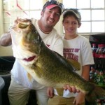 bass fishing with friends and james