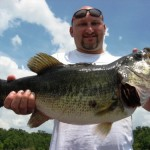 bass fishing on a sunny day
